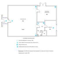 Схема монтажа охранной сигнализации магазина (эконом-вариант)