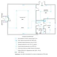 Схема монтажа пожарной сигнализации магазина (эконом-вариант)