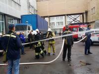 Совместные с МЧС учения по предотвращению пожара на одном объектов компании