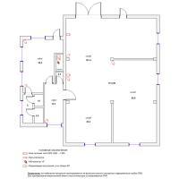 Схема монтажа системы видеонаблюдения офисно-складского помещения (эконом-вариант)