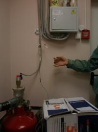 Монтаж модуля газового тушения